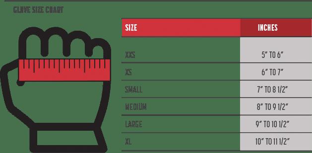 Simpson glove sizing chart